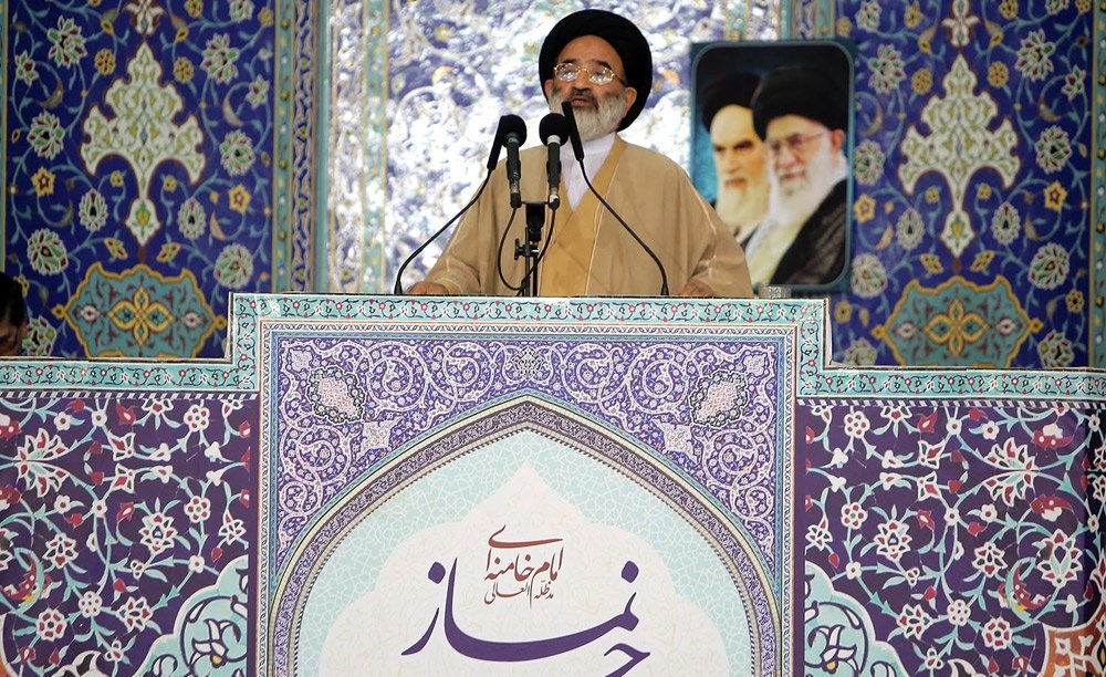 Ayatollah Saidi leading Friday prayers at Qom