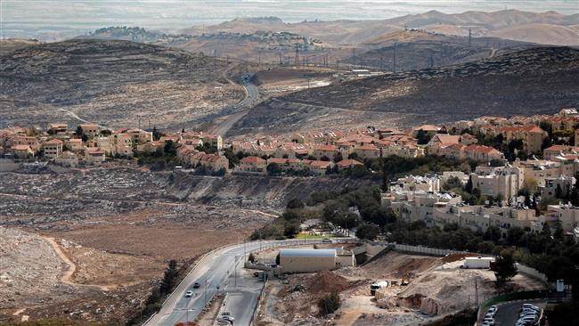 The photo taken on September 27, 2016, shows a general view of an illegal Israeli settlement in Jerusalem al-Quds. (Photo by AFP)