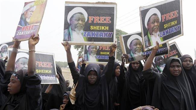 Shia Muslims call for the release of cleric Sheikh Ibrahim Zakzaky, in Cikatsere, Nigeria, April 1, 2016