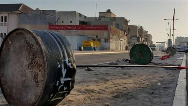 A picture taken on October 8, 2016 shows the aftermath of an attack by Bahraini regime forces targeting Shia Muslims' mourning events in an unknown location in Bahrain.