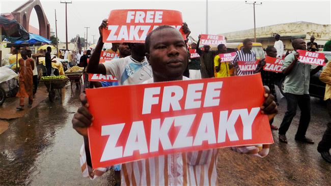 Northern Nigerian city of Kano, on. Demonstrators from the Islamic Movement in Nigeria (IMN) chanting slogans and demanding the release of prominent cleric Sheikh Ibrahim Zakzaky who has been in detention without charge or trial