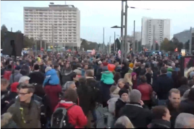 Anti PEGIDA protest in Germany