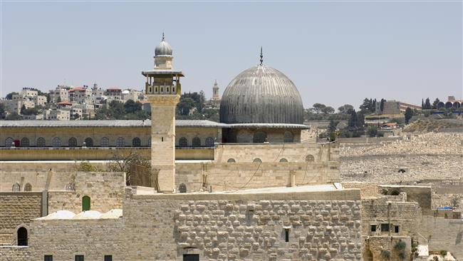 The file photo shows a view of al-Aqsa Mosque in East Jerusalem al-Quds
