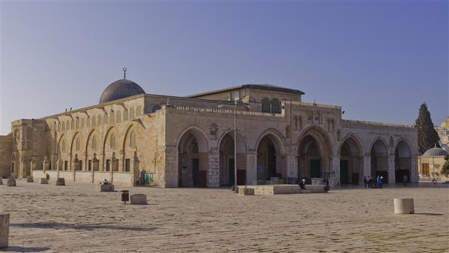 The file photo shows a view of al-Aqsa Mosque in East Jerusalem al-Quds.