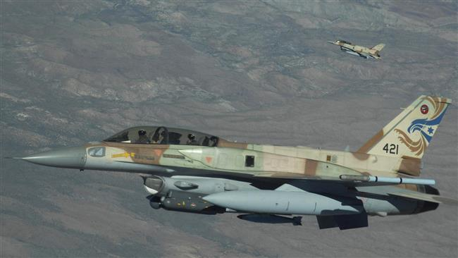 This file photo shows two Israeli Air Force F-16 fighter jets in flight.