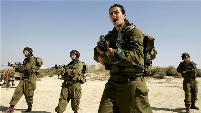 File photo of female Israeli forces