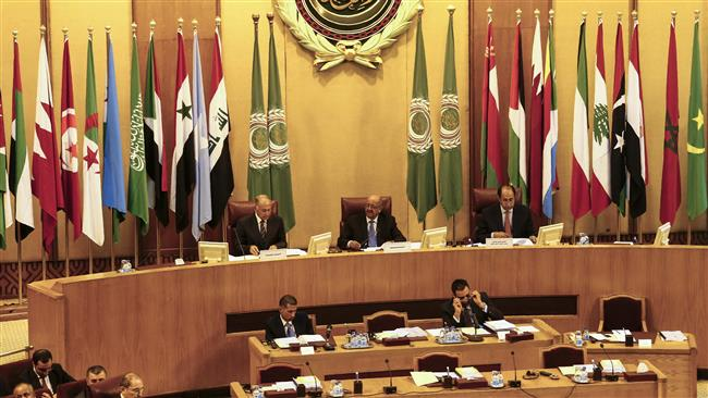 Secretary General of the Arab League Ahmed Aboul Gheit (L) chairs the Arab foreign ministers meeting, September 12, 2017, in Cairo. (Photo by AFP)