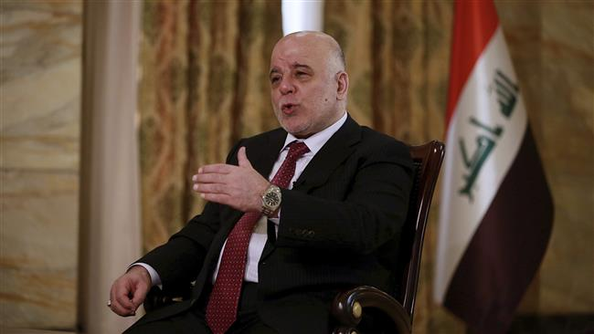 Iraqi Prime Minister Haider al-Abadi speaks during an interview with The Associated Press in Baghdad, September 16, 2017. (Photo by AP)
