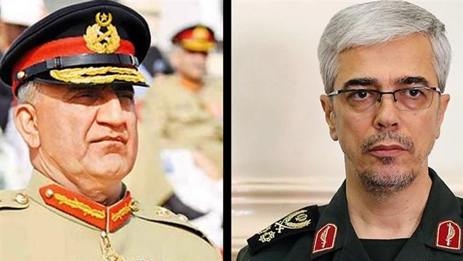 Chief of Staff of the Iranian Armed Forces Major General Mohammad Baqeri (R) and Pakistan