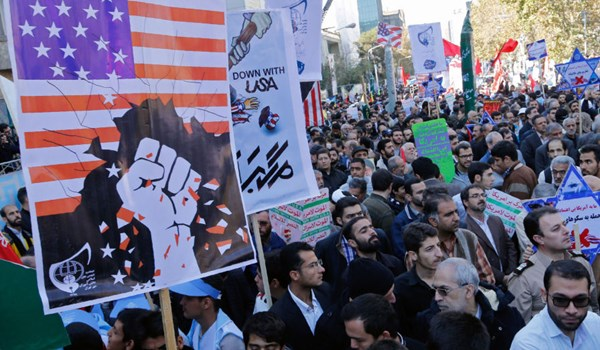 People across Iran Participate in Anti-Trump Demonstrations