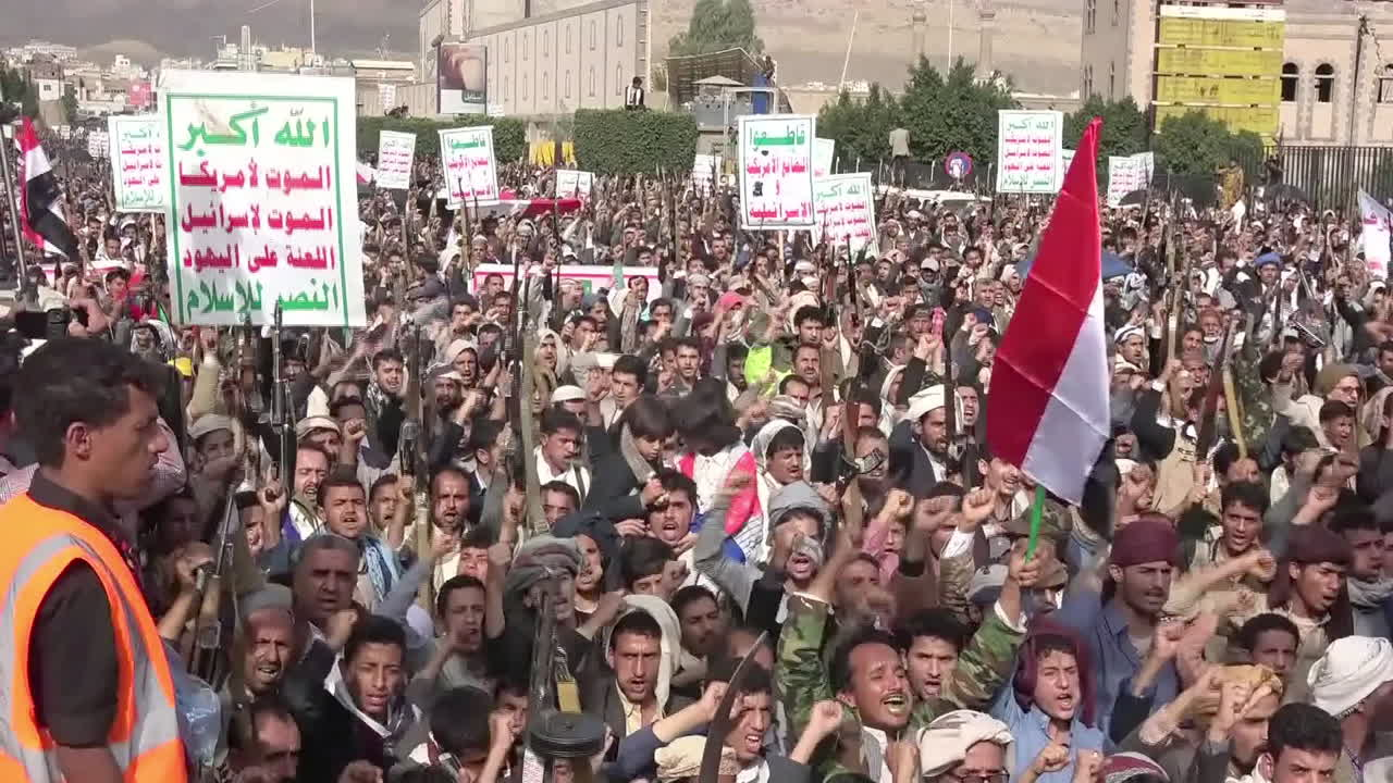 Thousands Protest in Sanaa on Third Anniversary of Yemen War