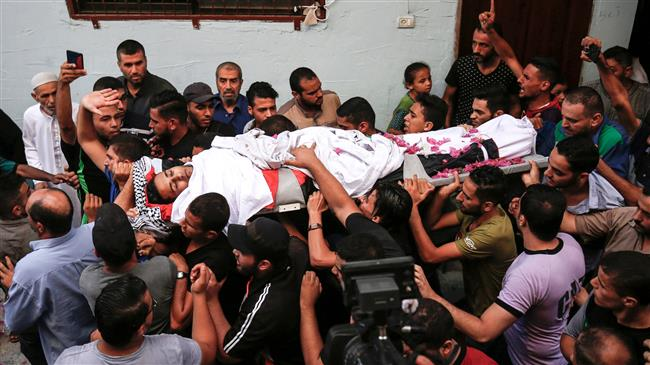 Palestinians in a funeral