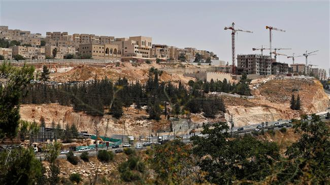 A picture taken on July 24, 2018, shows a view of ongoing construction work at Ramat Shlomo, a Jewish settlement in the mainly Palestinian eastern sector of Jerusalem al-Quds. (Photo by AFP)