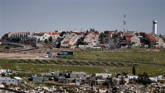 This file picture shows a general view of the Israeli settlement of Adam, near the Palestinian city of Ramallah in the occupied West Bank. (Photo by AFP)