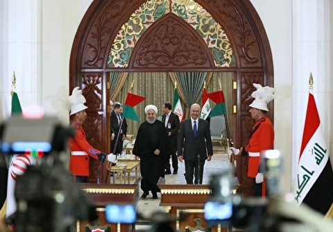 Rouhani Meeting with Iraqi President