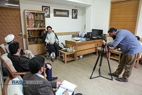Rasa News Agency Staffs met with Hujjat al-Islam Madani, president of Jamia al-Zahra sisters' seminary in Qom