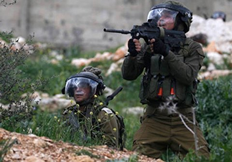 Israeli Soldiers Clash with Palestinian Protesters, Near West Bank City of Nablus