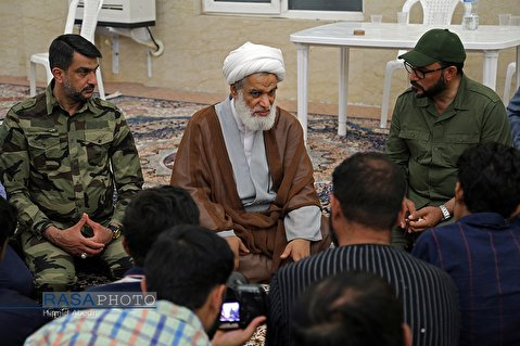 Ayatollah Kabi met with members of Iraqi Popular Mobilization Forces from