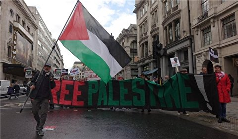 Hundreds Rally in Britain in Support of Palestine