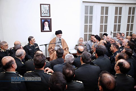 A group of commanders of Law Enforcement Force of the Islamic Republic of Iran met with Ayatollah Khamenei