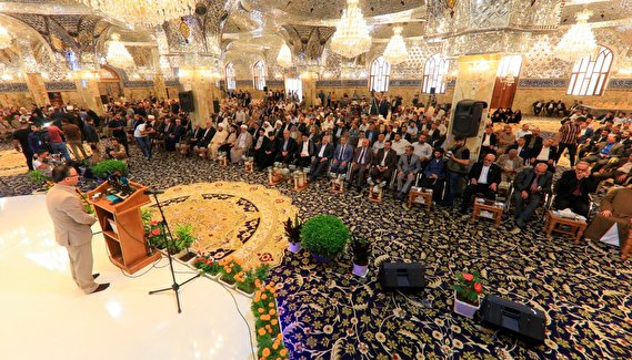The ninth cultural conference on Imam Hussain's Emissary was held in Kufa (Photos)
