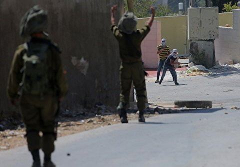 Israeli Soldiers Clash with Palestinian Protesters in Kufr Qadoom Village