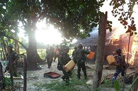 Myanmar Army Shells Rohingya Village, Kills Two Women