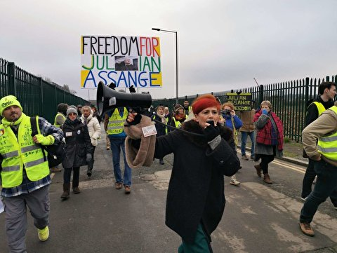 Yellow Vests from Across France, Europe Hold Rally, Show Solidarity for Assange Near Belmarsh Prison