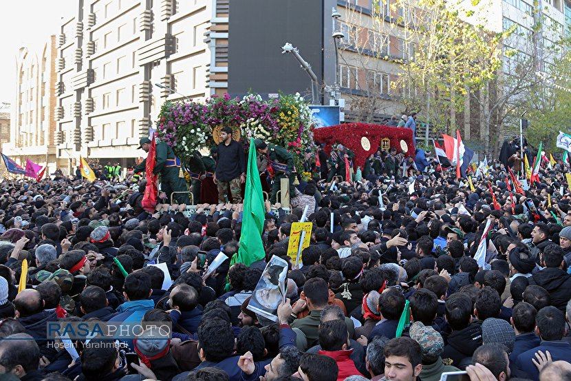 People of Tehran bid farewell to Martyr Major General Qasem Soleimani and his companions