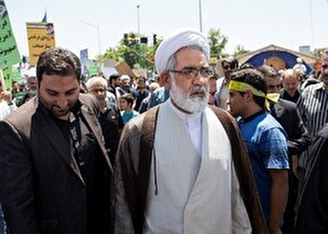 In holy city of Qom, Islamic scholars alongside people attended the rallies