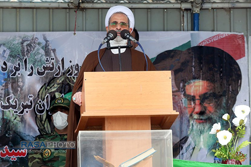Military parade held in Qom with a speech by Ayatollah Arafi