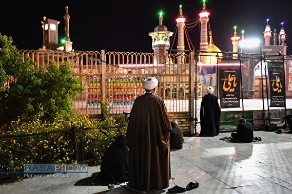 Laylat al-Qadr ceremonies held in the Holy Shrine of Lady Fatimah al-Ma'sumah on the 19th night of Ramadhan