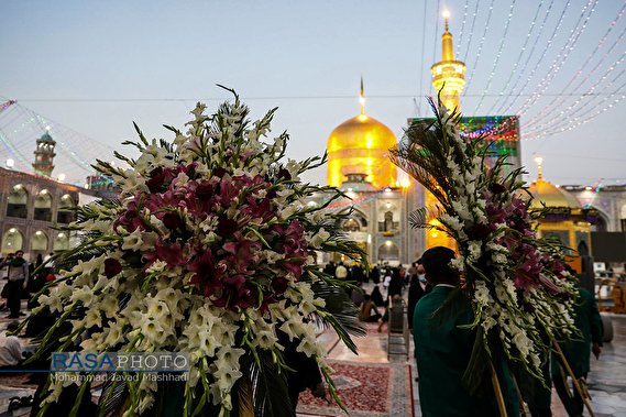 The Holy Shrine of Imam Ali ibn Musa al-Ridha in Mashhad on his birth anniversary ‎